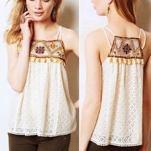 HD In Paris Anthropologie Tikal Tassel Tank